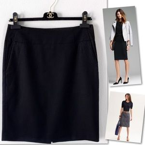 BANANA REPUBLIC  WOOL BLACK SUIT SKIRT SZ 2